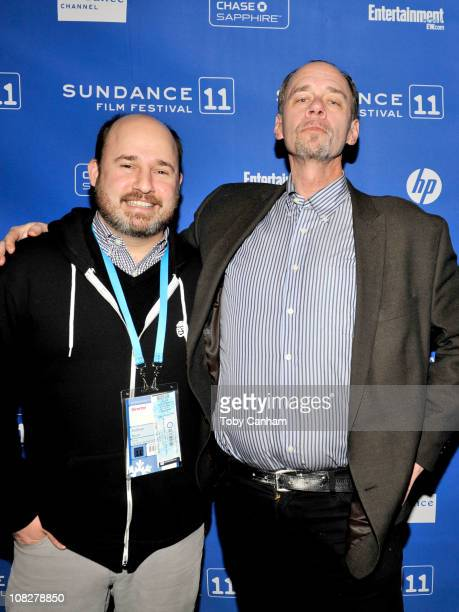 Director Andrew Rossi and writer David Carr attend 'Page One A Year Inside The New York Times' Premiere at the Temple Theatre during the 2011...