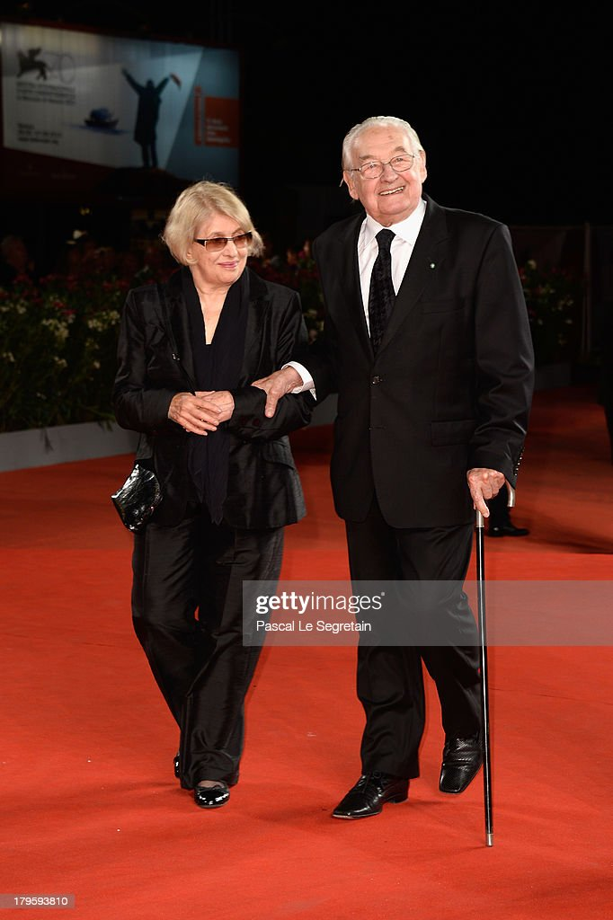 Director Andrzej Wajda and his wife Krystyna Zachwatowicz-Wajda attend the 'Walesa: Man Of Hope' Premiere during the 70th Venice International Film Festival at the Palazzo del Cinema on September 5, 2013 in Venice, Italy.