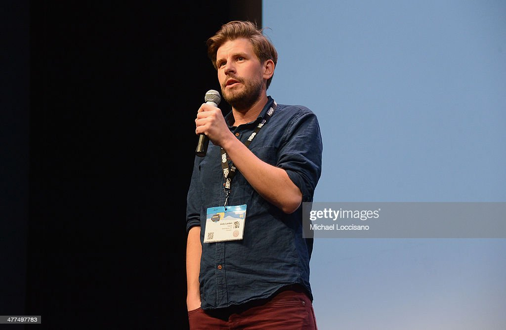 Director Andy Landen addresses the audience before the 'Sequoia' premiere during the 2014 SXSW Music, Film + Interactive Festival at Topfer Theatre at ZACH on March 9, 2014 in Austin, Texas.