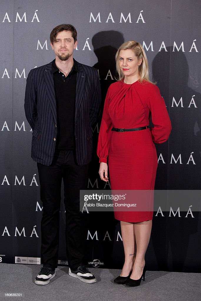 Director Andy Muschietti and producer Barbara Muschietti attend the 'Mama' photocall at Villamagna Hotel on February 4, 2013 in Madrid, Spain.