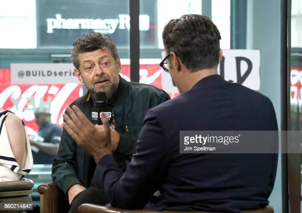 Director Andy Serkis and moderator Ricky Camilleri attend Build to discuss 'Breathe'at Build Studio on October 11 2017 in New York City