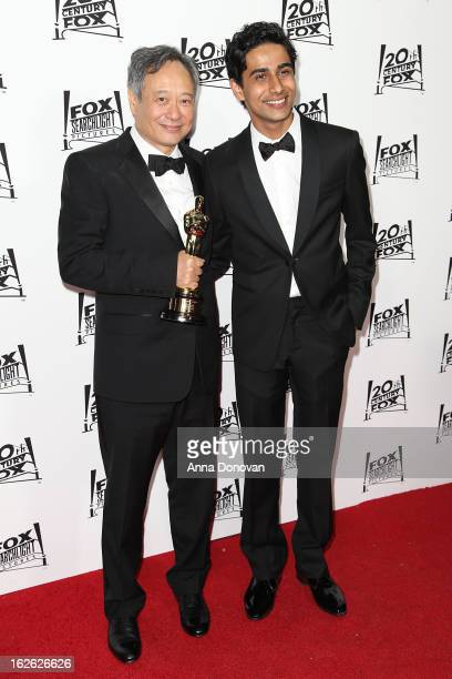 Director Ang Lee and Actor Suraj Sharma arrive to the Twentieth Century Fox and Fox Searchlight Pictures Academy Awards Nominees Party at Lure on...