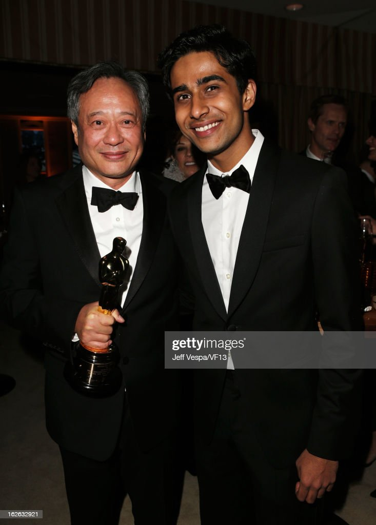 Director Ang Lee (L) and actor Suraj Sharma attend the 2013 Vanity Fair Oscar Party hosted by Graydon Carter at Sunset Tower on February 24, 2013 in West Hollywood, California.