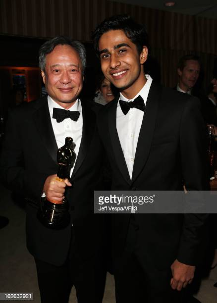 Director Ang Lee and actor Suraj Sharma attend the 2013 Vanity Fair Oscar Party hosted by Graydon Carter at Sunset Tower on February 24 2013 in West...