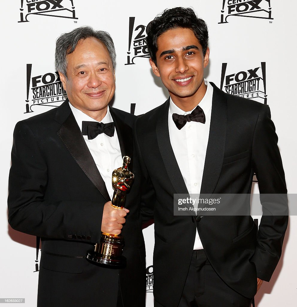 Director <a gi-track='captionPersonalityLinkClicked' href=/galleries/search?phrase=Ang+Lee&family=editorial&specificpeople=215104 ng-click='$event.stopPropagation()'>Ang Lee</a> (L) and actor <a gi-track='captionPersonalityLinkClicked' href=/galleries/search?phrase=Suraj+Sharma&family=editorial&specificpeople=9768453 ng-click='$event.stopPropagation()'>Suraj Sharma</a> attend the 20th Century Fox And Fox Searchlight Pictures' Academy Award Nominees Celebration at Lure on February 24, 2013 in Hollywood, California.