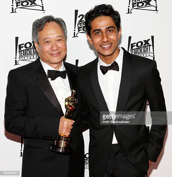 Director Ang Lee and actor Suraj Sharma attend the 20th Century Fox And Fox Searchlight Pictures' Academy Award Nominees Celebration at Lure on...