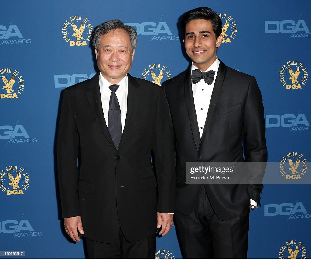 Director <a gi-track='captionPersonalityLinkClicked' href=/galleries/search?phrase=Ang+Lee&family=editorial&specificpeople=215104 ng-click='$event.stopPropagation()'>Ang Lee</a> (L) and actor <a gi-track='captionPersonalityLinkClicked' href=/galleries/search?phrase=Suraj+Sharma&family=editorial&specificpeople=9768453 ng-click='$event.stopPropagation()'>Suraj Sharma</a> attend the 65th Annual Directors Guild Of America Awards at Ray Dolby Ballroom at Hollywood & Highland on February 2, 2013 in Los Angeles, California.