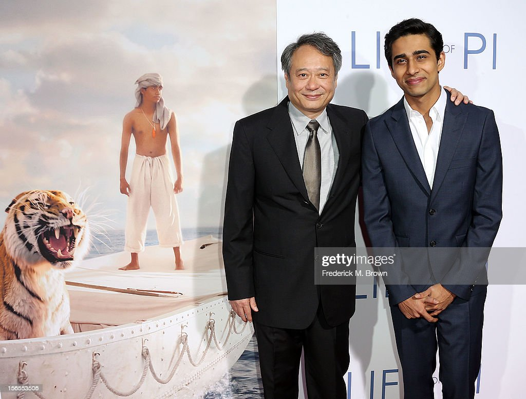 Director <a gi-track='captionPersonalityLinkClicked' href=/galleries/search?phrase=Ang+Lee&family=editorial&specificpeople=215104 ng-click='$event.stopPropagation()'>Ang Lee</a> (L) and actor Suraj Sharma attend the Special Screening for 20th Century Fox and Fox 2000's 'Life Of Pi' at the Zanuck Theater, 20th Century Fox Lot on November 16, 2012 in Los Angeles, California.