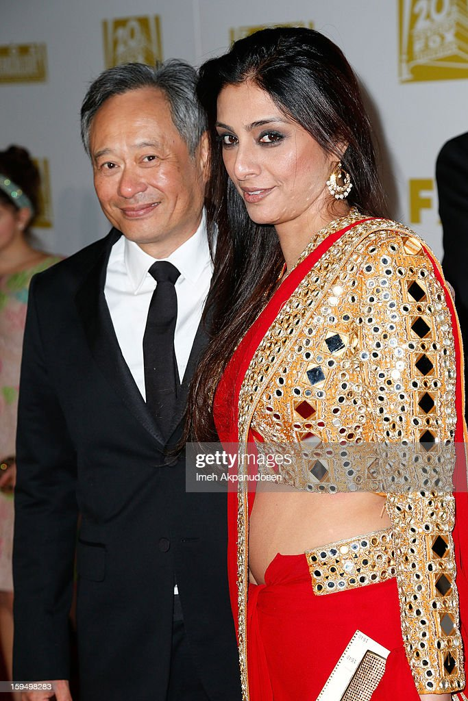 Director <a gi-track='captionPersonalityLinkClicked' href=/galleries/search?phrase=Ang+Lee&family=editorial&specificpeople=215104 ng-click='$event.stopPropagation()'>Ang Lee</a> (L) and actress Tabu attend the Fox Searchlight 2013 Golden Globe Awards Party on January 13, 2013 in Beverly Hills, California.