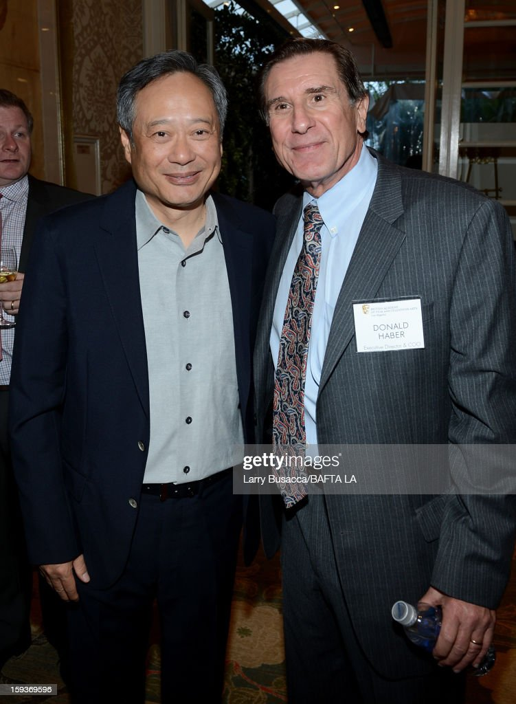 Director Ang Lee and Donald Haber, Executive Director and COO, BAFTA attend the BAFTA Los Angeles 2013 Awards Season Tea Party held at the Four Seasons Hotel Los Angeles on January 12, 2013 in Los Angeles, California.