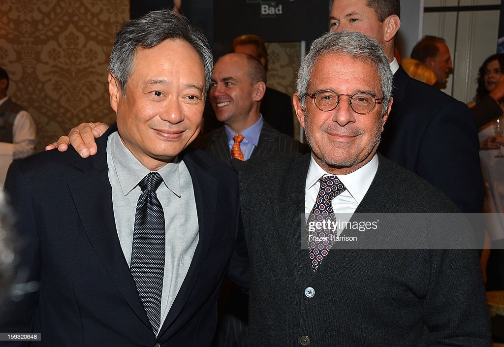Director Ang Lee (L) and Ron Meyer, President and CEO, Universal Studios attend the 13th Annual AFI Awards at Four Seasons Los Angeles at Beverly Hills on January 11, 2013 in Beverly Hills, California.