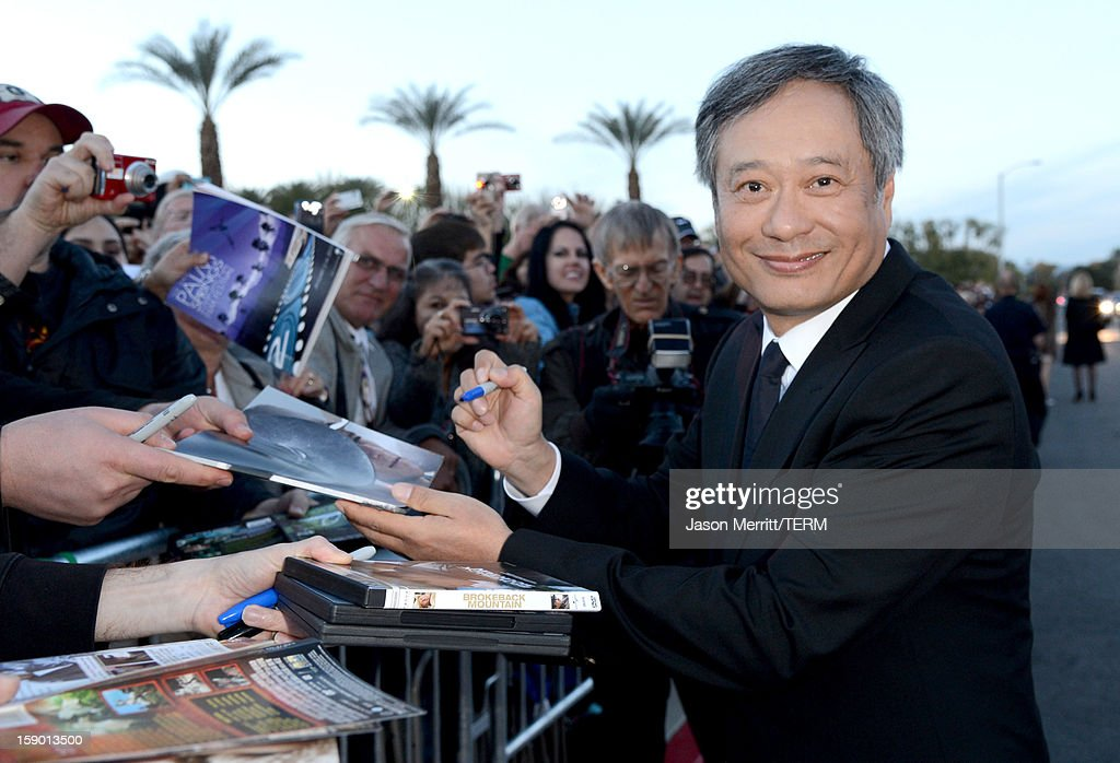 Director Ang Lee arrives at the 24th annual Palm Springs International Film Festival Awards Gala at the Palm Springs Convention Center on January 5, 2013 in Palm Springs, California.