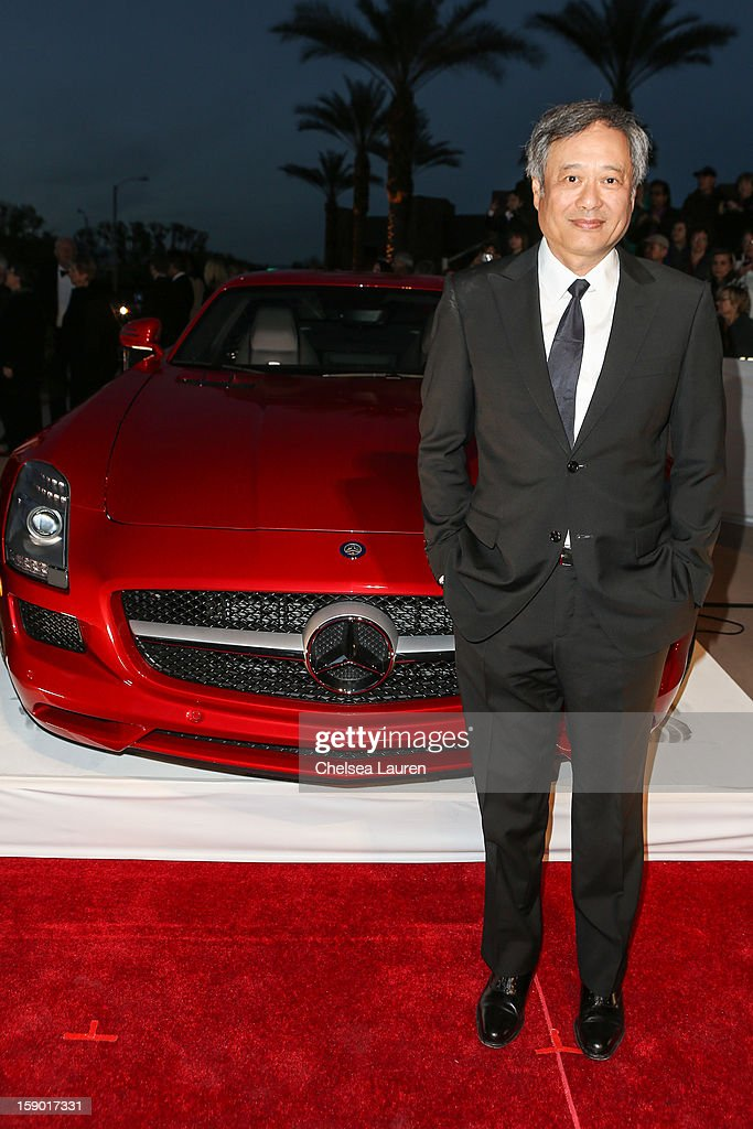 Director Ang Lee arrives in style with Mercedes-Benz at the Palm Springs International Film Festival at the Palm Springs Convention Center on January 5, 2013 in Palm Springs, California.