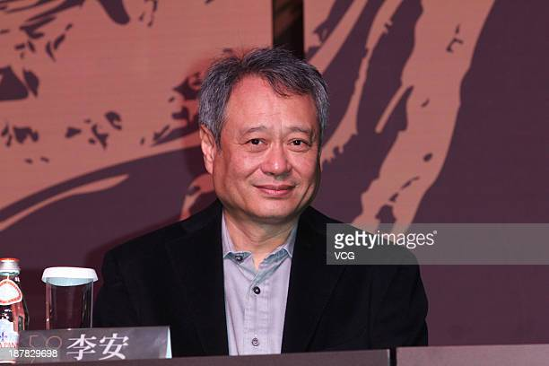 Director Ang Lee attends The 50th Taipei Golden Horse Film Festival jury press conference at Humble House Hotel on November 12 2013 in Taipei Taiwan