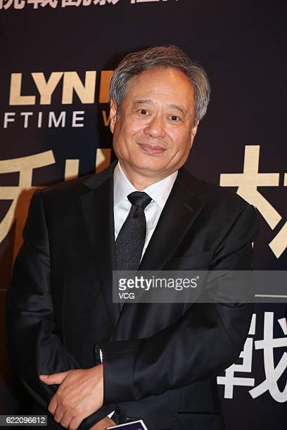 Director Ang Lee attends the premiere of his film 'Billy Lynn's Long Halftime Walk' on November 8 2016 in Shanghai China
