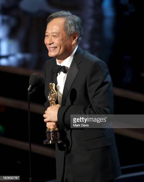 Director Ang Lee onstage during the Oscars held at the Dolby Theatre on February 24 2013 in Hollywood California