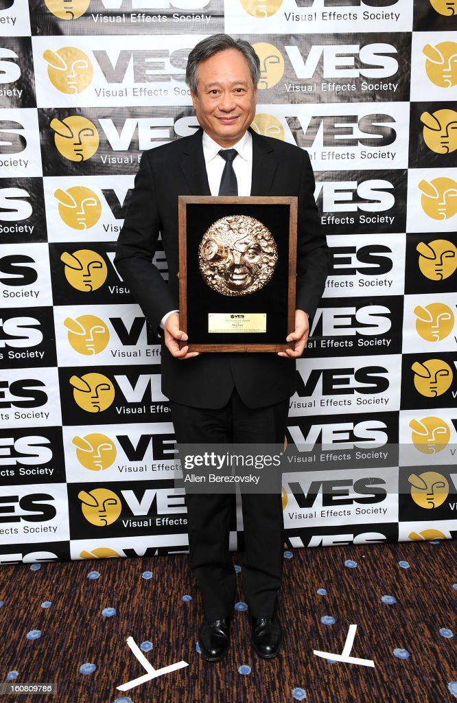 Director Ang Lee poses in the press room at the 2013 Visual Effects Society Awards at The Beverly Hilton Hotel on February 5, 2013 in Beverly Hills, California.