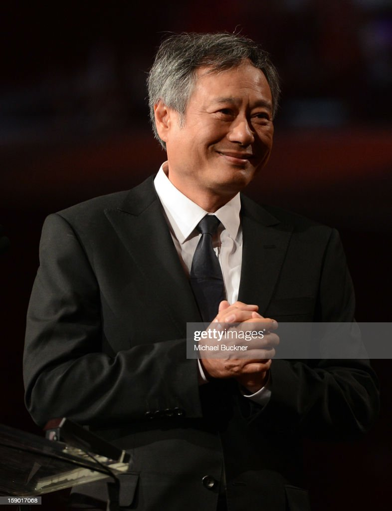 Director <a gi-track='captionPersonalityLinkClicked' href=/galleries/search?phrase=Ang+Lee&family=editorial&specificpeople=215104 ng-click='$event.stopPropagation()'>Ang Lee</a> presents the Frederick Loewe Award for Film Composing onstage during the 24th annual Palm Springs International Film Festival Awards Gala at the Palm Springs Convention Center on January 5, 2013 in Palm Springs, California.