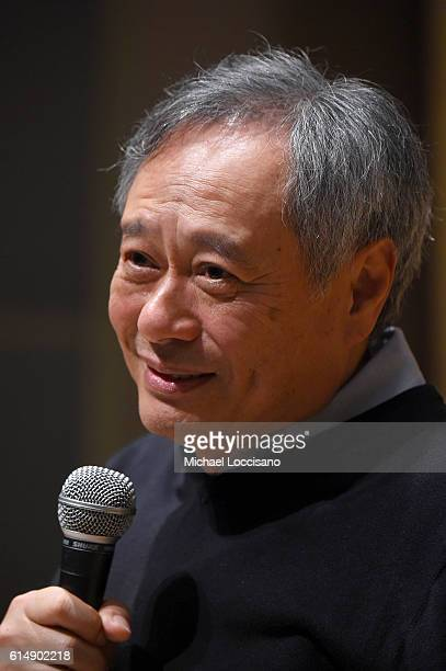 Director Ang Lee takes part in the Directors Dialogues with Ang Lee Panel during the 54th New York Film Festival at Film Center Amphitheater in...