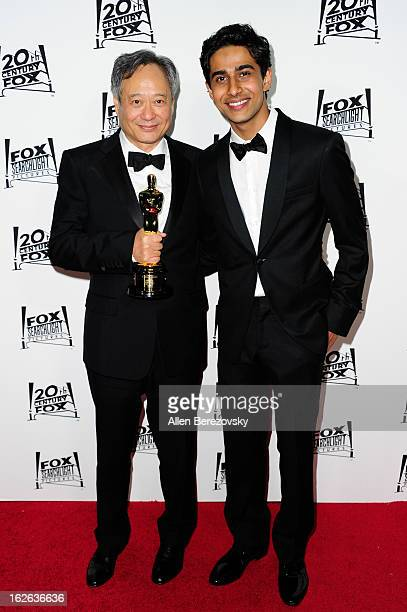 Director Ang Lee winner of the best director academy award for 'Life of Pi' and actor Suraj Sharma attend the 20th Century FOX and FOX Searchlight...