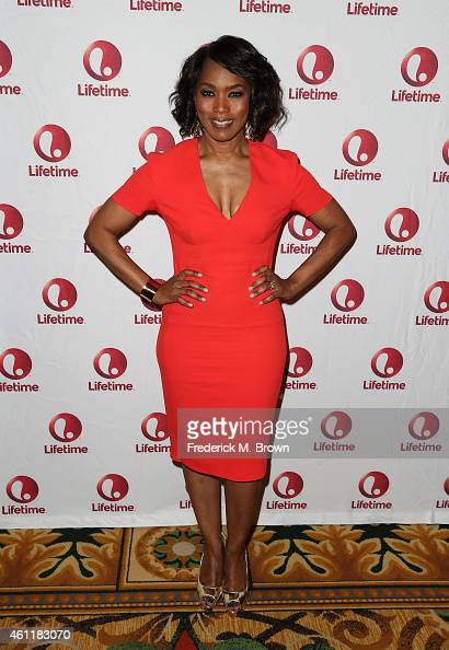 Director Angela Bassett attends the Lifetime Network sponsored breakfast for 'Whitney' during the 2015 Winter Television Critics Association press...