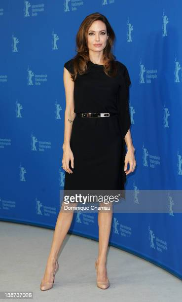 Director Angelina Jolie attends the 'In The Land Of Blood And Honey' Photocall during day three of the 62nd Berlin International Film Festival at the...