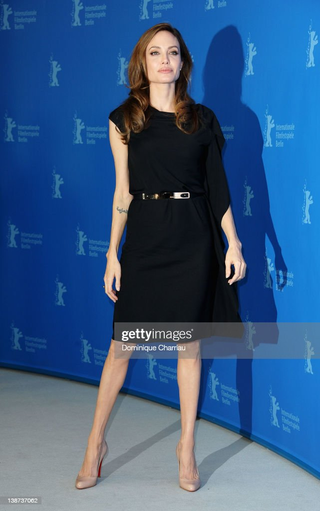 Director <a gi-track='captionPersonalityLinkClicked' href=/galleries/search?phrase=Angelina+Jolie&family=editorial&specificpeople=201591 ng-click='$event.stopPropagation()'>Angelina Jolie</a> attends the 'In The Land Of Blood And Honey' Photocall during day three of the 62nd Berlin International Film Festival at the Grand Hyatt on February 11, 2012 in Berlin, Germany.
