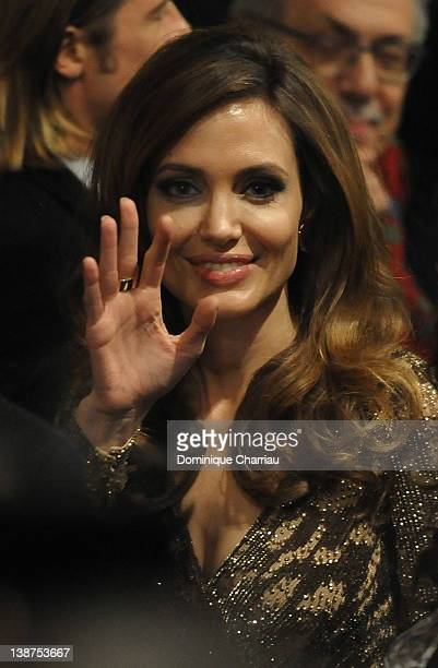Director Angelina Jolie attends the 'In The Land Of Blood And Honey' Premiere during day three of the 62nd Berlin International Film Festival at the...