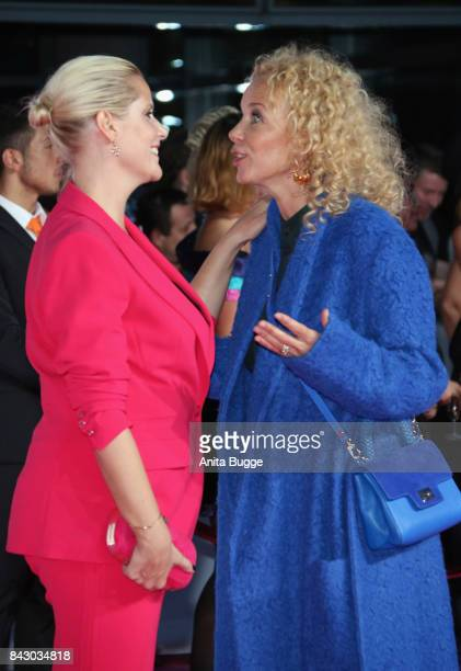 Director Anika Decker and actress Katja Riemann attend the 'High Society' Germany premiere at CineStar on September 5 2017 in Berlin Germany