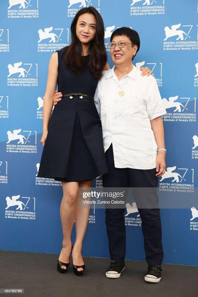Director Ann Hui and actress Tang Wei attend 'The Golden Era' photocall during the 71st Venice Film Festival on September 6 2014 in Venice Italy