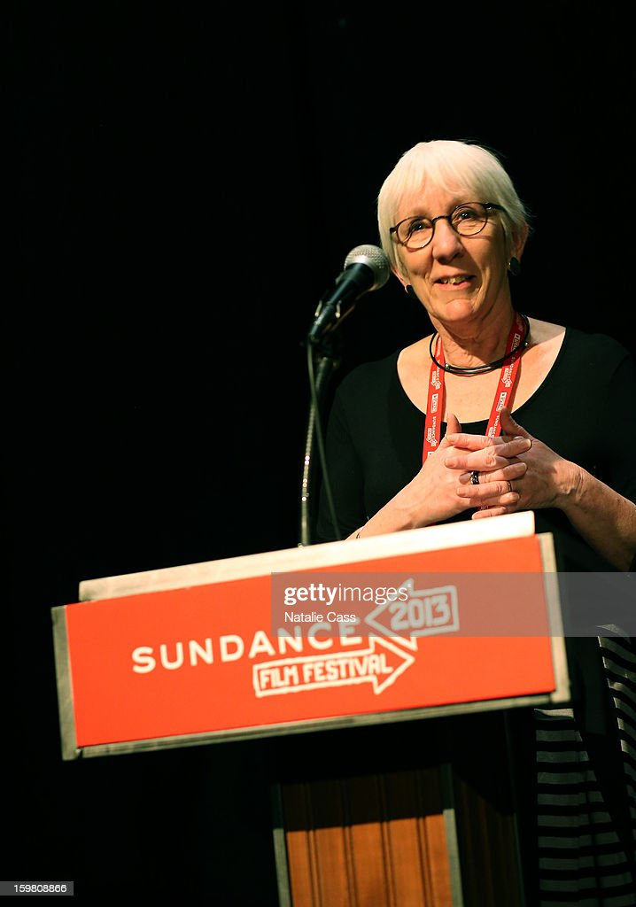 Director Anna Cady speaks onstage during the '99% - The Occupy Wall Street Collaborative Film' premiere at Egyptian Theatre during the 2013 Sundance Film Festival on January 20, 2013 in Park City, Utah.