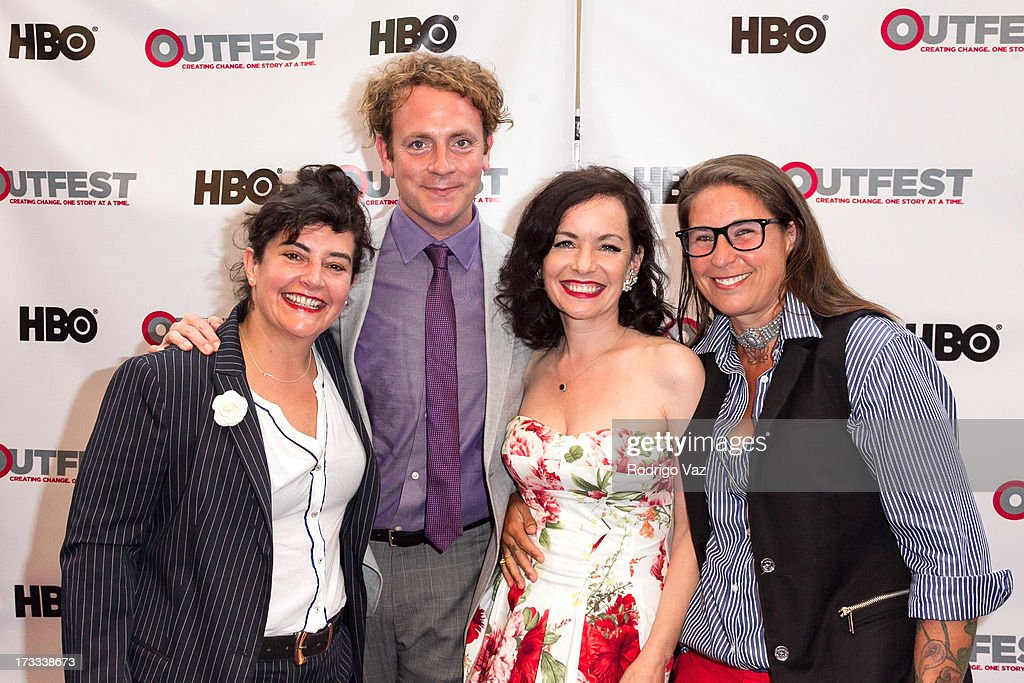 Director Anna Margarita Albelo, actors Drew Droege and Guinevere Turner and producer Valerie Stadler arrive at the 13th Annual Outfest Opening Night Gala Of 'C.O.G.' at Orpheum Theatre on July 11, 2013 in Los Angeles, California.
