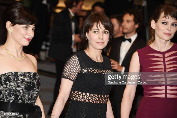 Director Annarita Zambrano Maryline Canto and Barbora Bobulova of 'Apres La Guerre' attend the 'Hikari ' screening during the 70th annual Cannes Film...