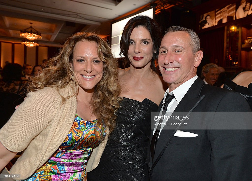 Director Anne Fletcher actress Sandra Bullock and director Adam Shankman appear at the 66th Annual Directors Guild Of America Awards held at the...