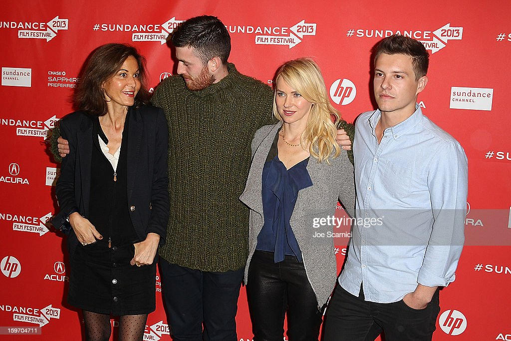 Director Anne Fontaine, Actors James Frecheville, Naomi Watts and Xavier Samuel arrive at the 'Two Mothers' Premiere at the 2013 Sundance Film Festival at Eccles Center Theatre on January 18, 2013 in Park City, Utah.