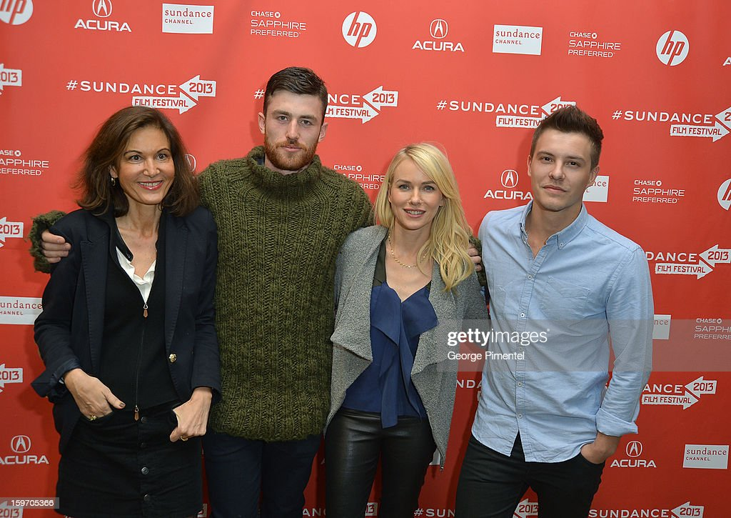 Director Anne Fontaine and actors James Frecheville, Naomi Watts and Xavier Samuel attend the 'Two Mothers' Premiere during the 2013 Sundance Film Festival at Eccles Center Theatre on January 18, 2013 in Park City, Utah.
