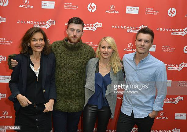 Director Anne Fontaine and actors James Frecheville Naomi Watts and Xavier Samuel attend the 'Two Mothers' Premiere during the 2013 Sundance Film...