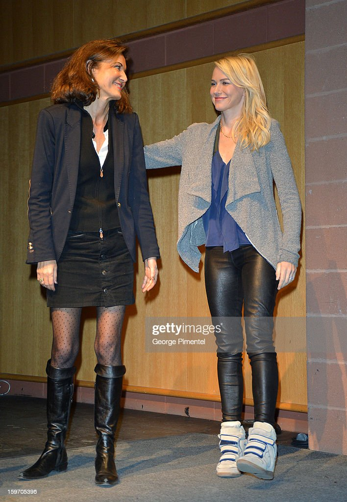Director Anne Fontaine (L) and actress Naomi Watts attend the 'Two Mothers' Premiere during the 2013 Sundance Film Festival at Eccles Center Theatre on January 18, 2013 in Park City, Utah.