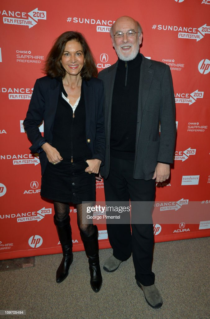 Director <a gi-track='captionPersonalityLinkClicked' href=/galleries/search?phrase=Anne+Fontaine&family=editorial&specificpeople=601319 ng-click='$event.stopPropagation()'>Anne Fontaine</a> (L) and producer Andrew Mason attend the 'Two Mothers' Premiere during the 2013 Sundance Film Festival at Eccles Center Theatre on January 18, 2013 in Park City, Utah.