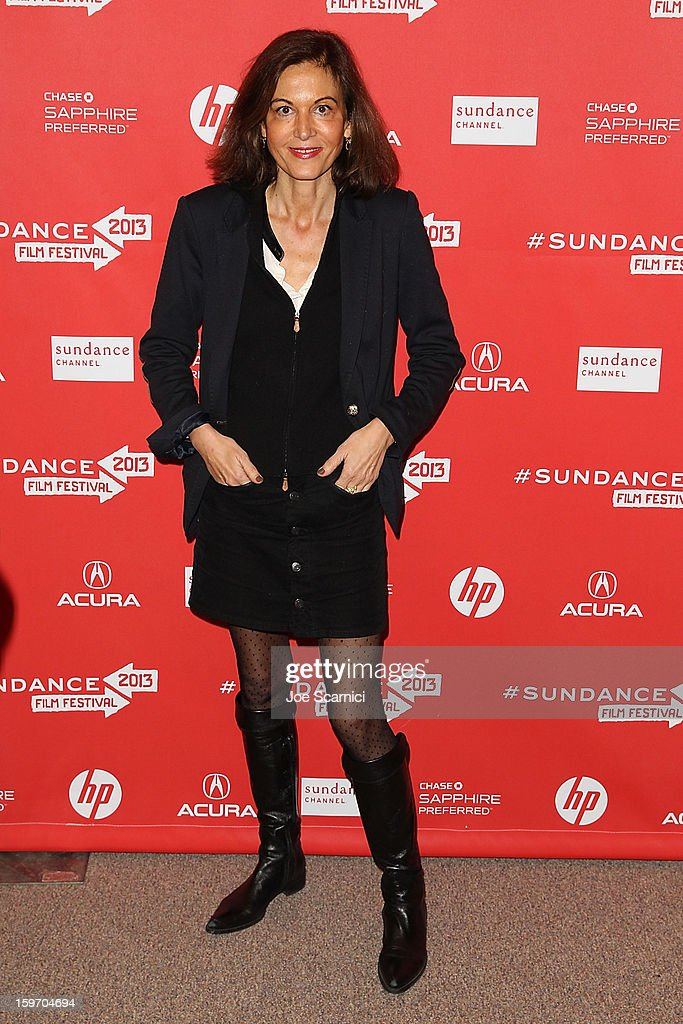 Director Anne Fontaine arrives at the 'Two Mothers' Premiere at the 2013 Sundance Film Festival at Eccles Center Theatre on January 18, 2013 in Park City, Utah.