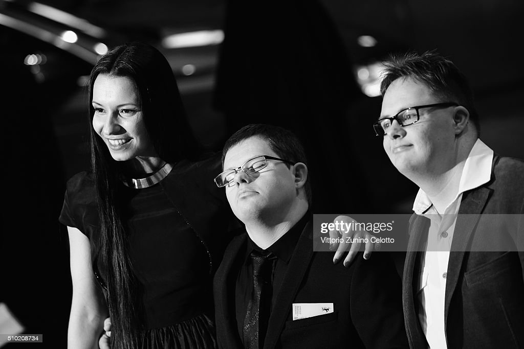 Director Anne Zohra Berrached and guests attend the '24 Wochen' premiere during the 66th Berlinale International Film Festival Berlin at Berlinale Palace on February 14, 2016 in Berlin, Germany.