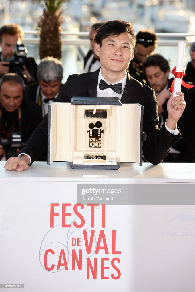 Director Anthony Chen poses after receiving the Camera d'Or for 'Ilo Ilo' at the photocall for award winners during the 66th Annual Cannes Film Festival at Palais des Festivals on May 26, 2013 in Cannes, France.