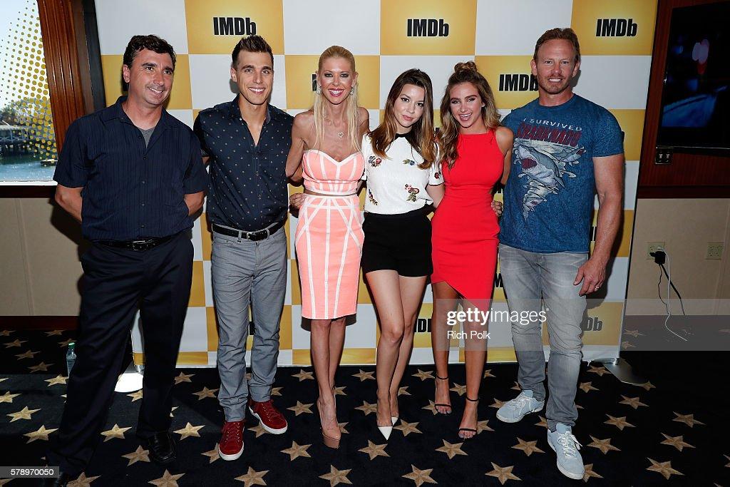 Director Anthony Ferrante actors Cody Linley Tara Reid Masiela Lusha Ryan Newman and Ian Ziering of Sharknado attend the IMDb Yacht at San Diego...