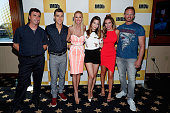 Director Anthony Ferrante actors Cody Linley Tara Reid Masiela Lusha Ryan Newman and Ian Ziering of Sharknado attend the IMDb Yacht at San Diego...