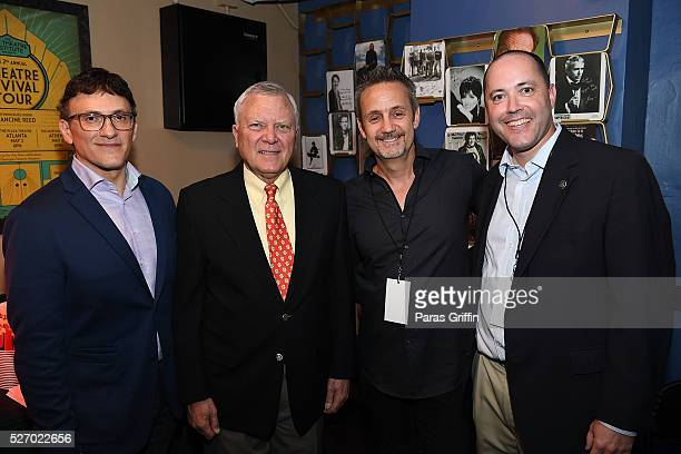 Director Anthony Russo Georgia Governor Nathan Deal producer Mitch Bell and Georgia Department of Economic Development Commissioner Chris Carr...