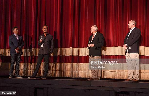 Director Anthony Russo producer Mitch Bell Georgia Governor Nathan Deal and Georgia Department of Economic Development Commissioner Chris Carr...
