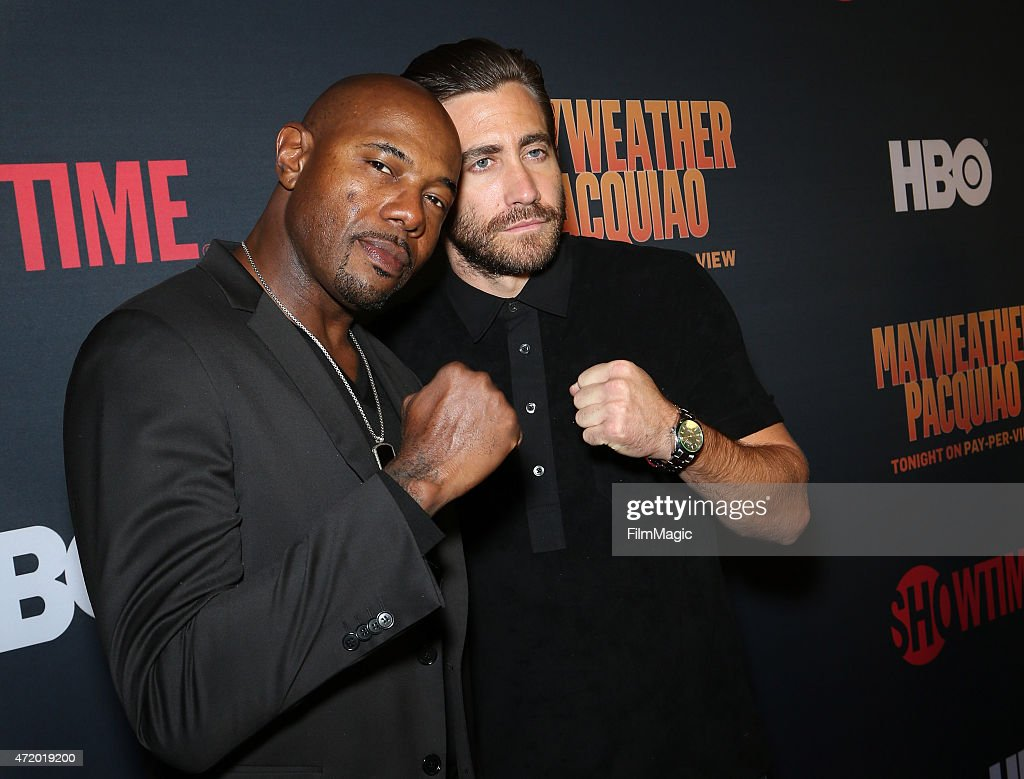 Director Antoine Fuqua and actor Jake Gyllenhaal attend the SHOWTIME And HBO VIP PreFight Party for 'Mayweather VS Pacquiao'at MGM Grand Hotel Casino...