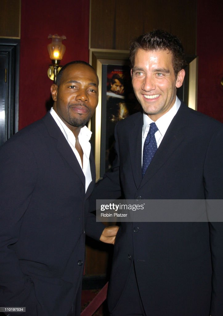 Director Antoine Fuqua and Clive Owen during 'King Arthur' World Premiere Inside Arrivals at The Ziegfeld Theatre in New York City New York United...
