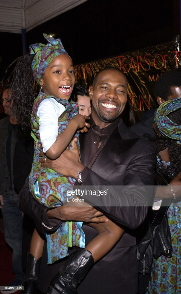 Director Antoine Fuqua and Hadda Busia during 'Tears Of The Sun' Premiere at Mann's Village in Westwood California United States
