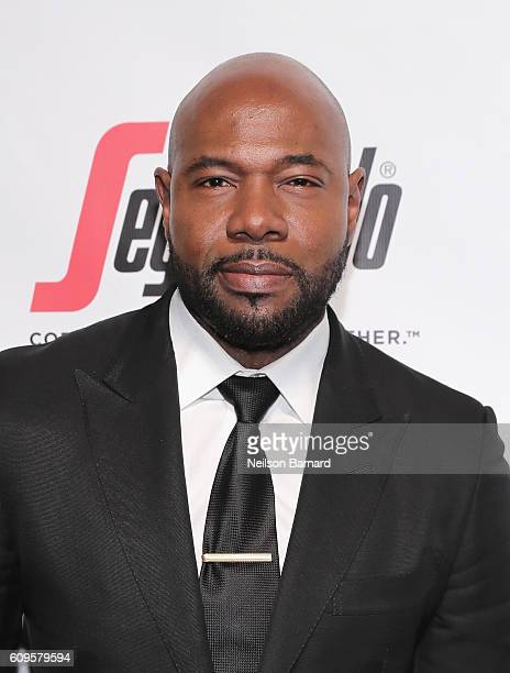 Director Antoine Fuqua attends the Friars Club Honors Martin Scorsese With Entertainment Icon Award at Cipriani Wall Street on September 21 2016 in...